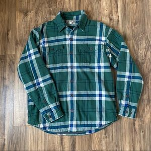 Duluth Flannel Jacket Medium Button Up Lined